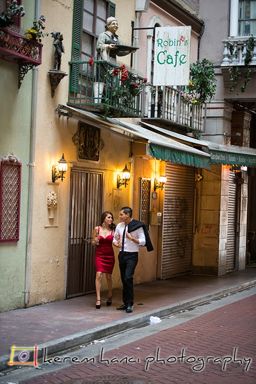 Engagement Session in the Historic St. Vincent Court in Los Angeles Downtown