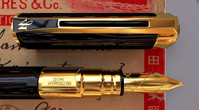 3d top view of fountain pen waterman perspective
