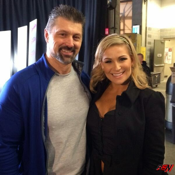 Steve Blackman Backstage at SmackDown.