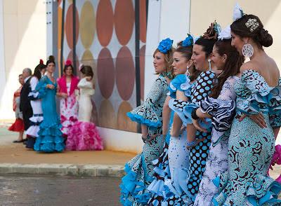 Feria de Abril in Sevilla - trajes de flamenca