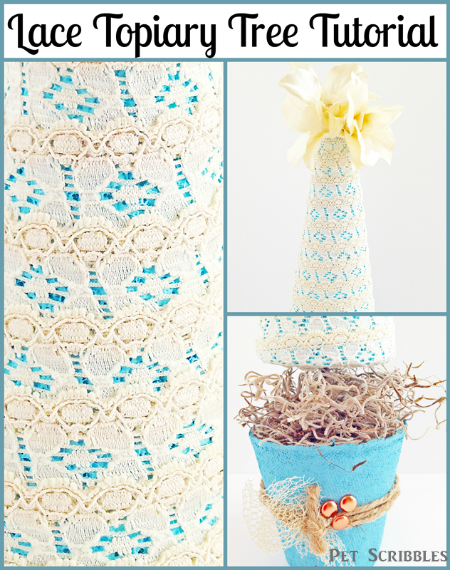 Lace Topiary Tree Tutorial - an easy craft for your Spring decor!