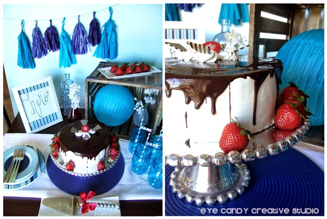 father's day table set up ideas, ice cream cake, father's day dessert