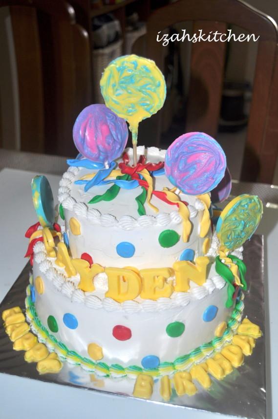 Izahs Kitchen Lollipop Birthday Cake
