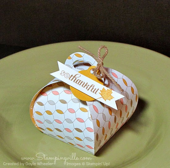 Super cute die-cut Stampin' Up! Curvy Keepsake Box is quick and easy to create.