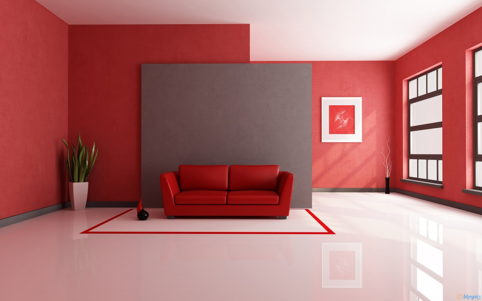 this is a long red setting for interior decors