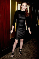 Kristen Stewart looking hot in black leather outfit