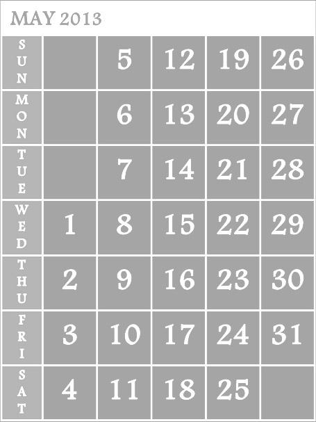 Calendar May 2013 : India may calendar