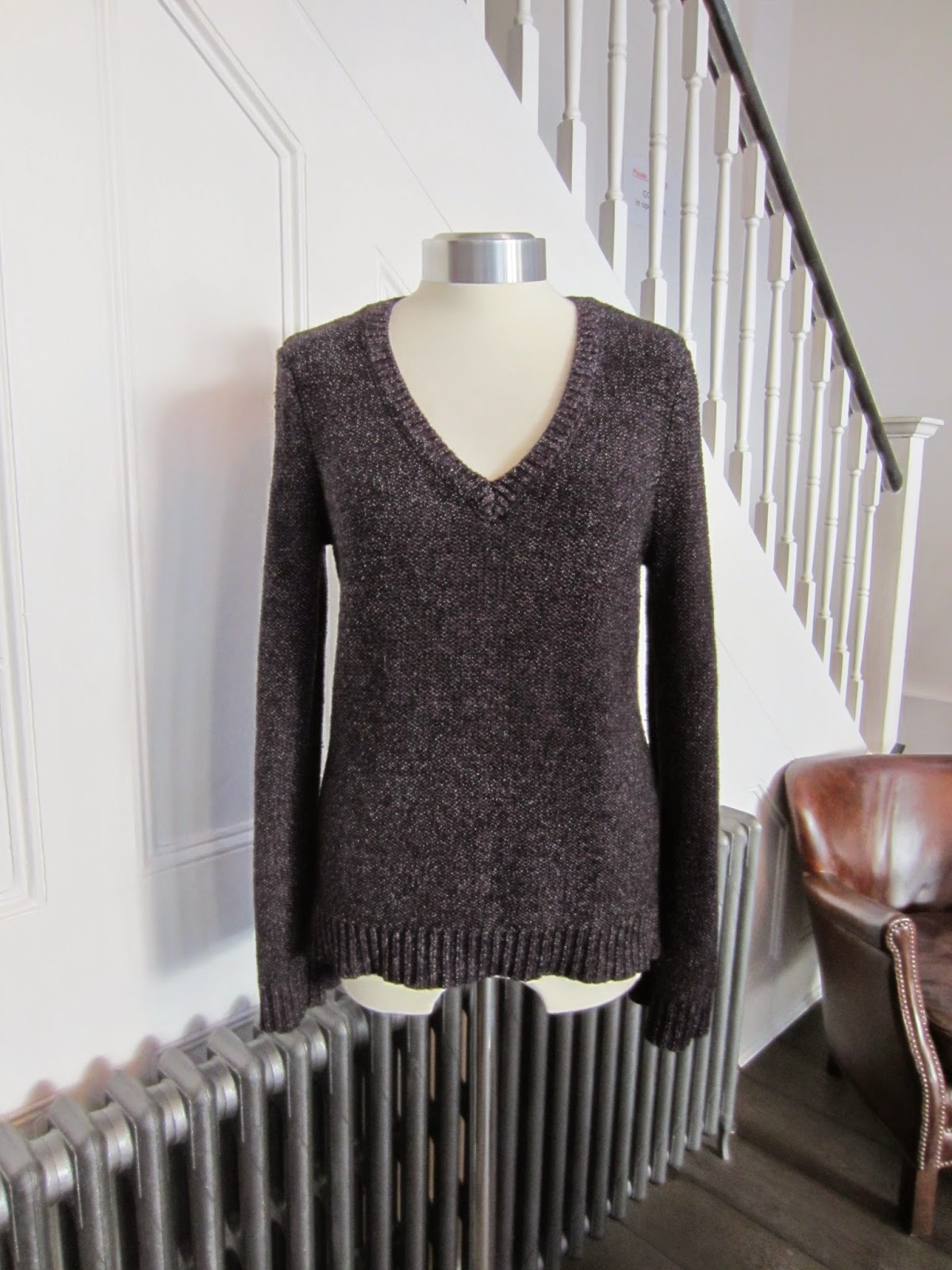 Rag & Bone Black & Purple Knit