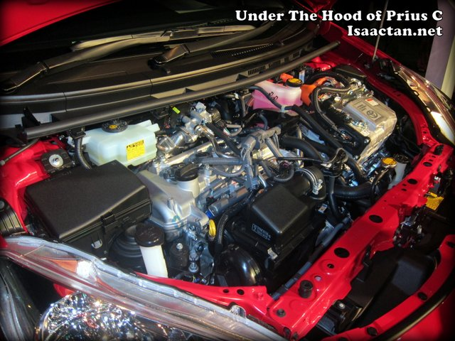 under the hood of Prius C