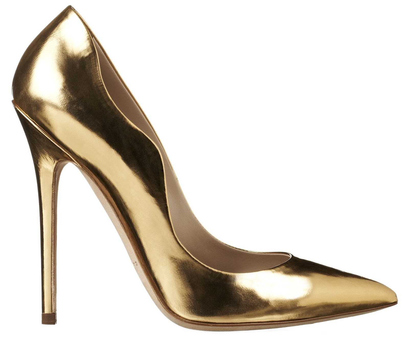 Shoe Luv : The Daily Heel: The Brian Atwood Besame Pump in Gold