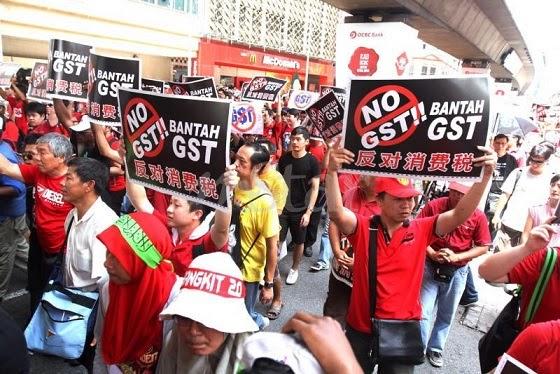 Panas Himpunan Bantah GST 20 ditangkap lima diminta serah diri
