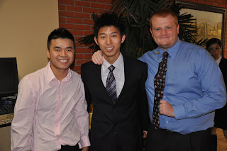 Rusong Xo (Charles) (center) made many friends at SHSU.