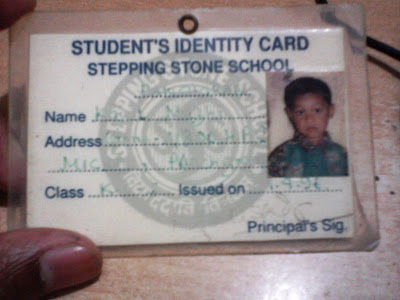 1st identity card, school memories stuff