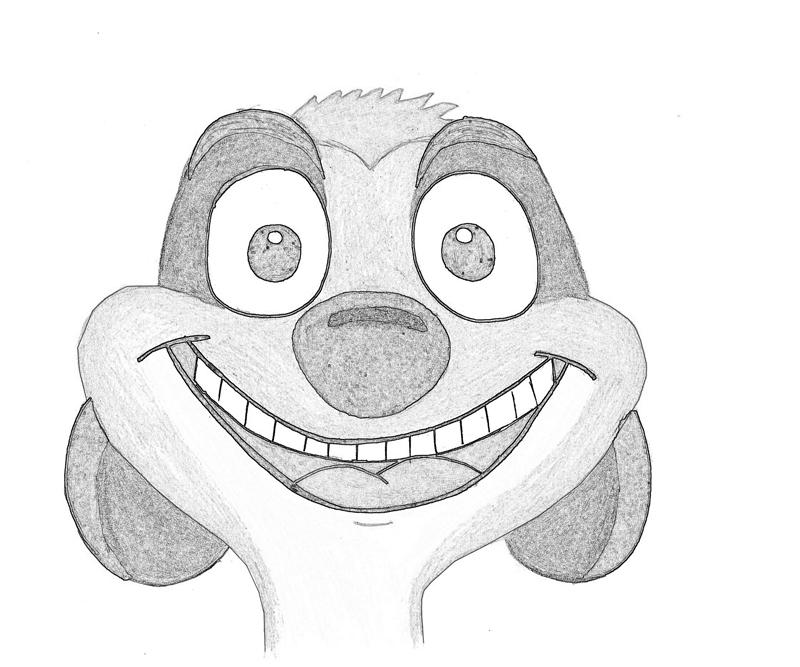 Timon drawing timon happy coloring pages