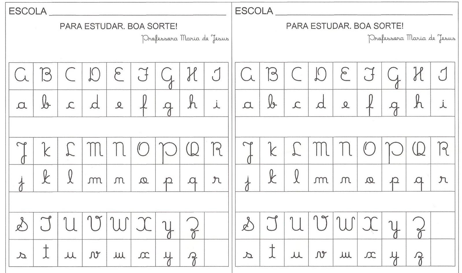 Alfabeto letra cursiva - Imagui