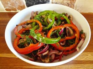 Marinated Mushroom & Pepper Salad