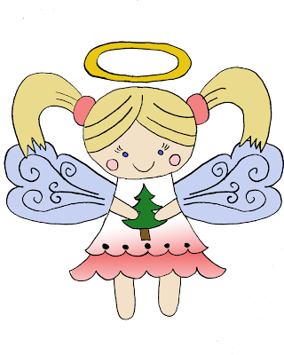 Little Christmas angel free download png for digital scrapbook scrapbooking