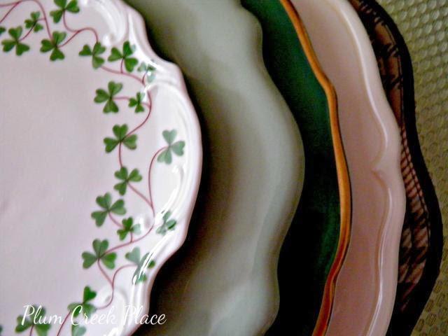 St Patrick's Day tablescape