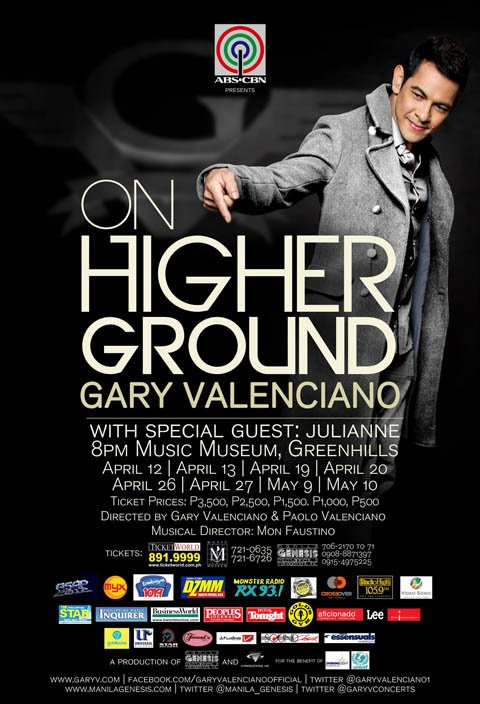Garry Valenciano - On Higher Groung 2012 Concert At Music Museum