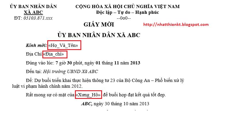 Hướng Dẫn Trộn Thư Mail Merge Trong Word 2013 2010 2007 2003