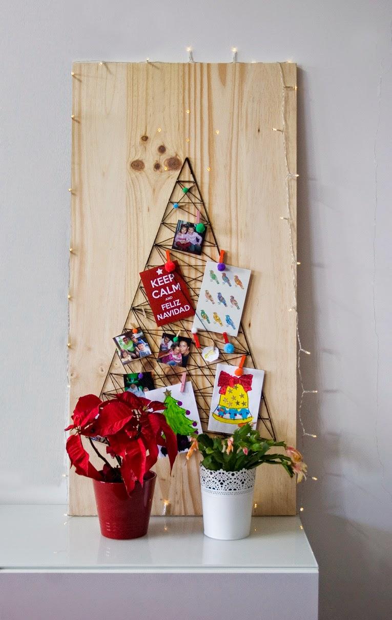 El árbol de navidad handmade de Decorar en familia - DIY8
