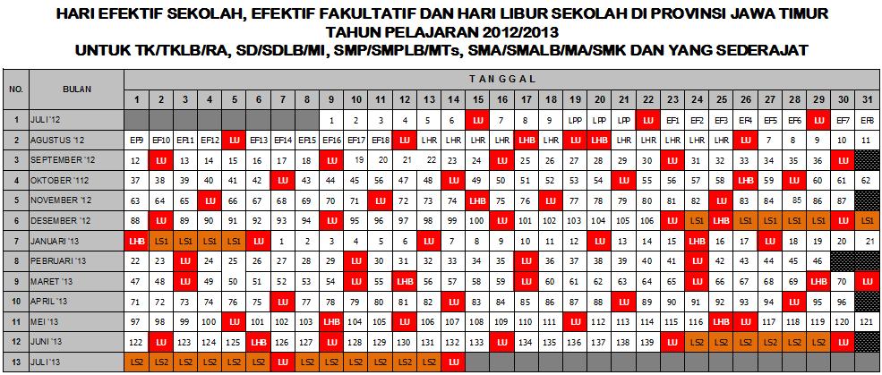Download Kalender Pendidikan 2012/2013