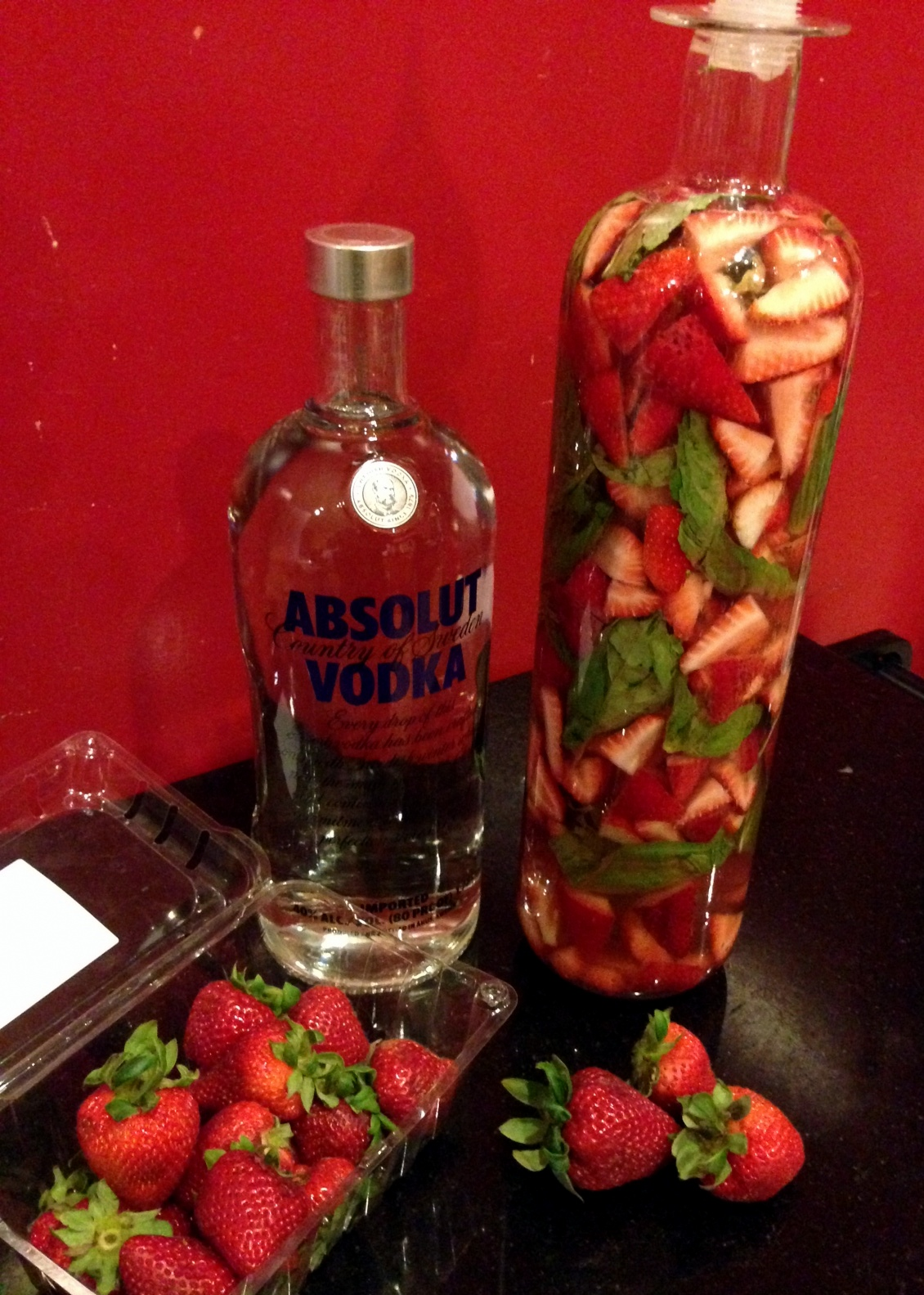 how to make strawberry infused vodka