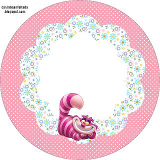 kit festa infantil Alice no país das maravilhas para imprimir grátis