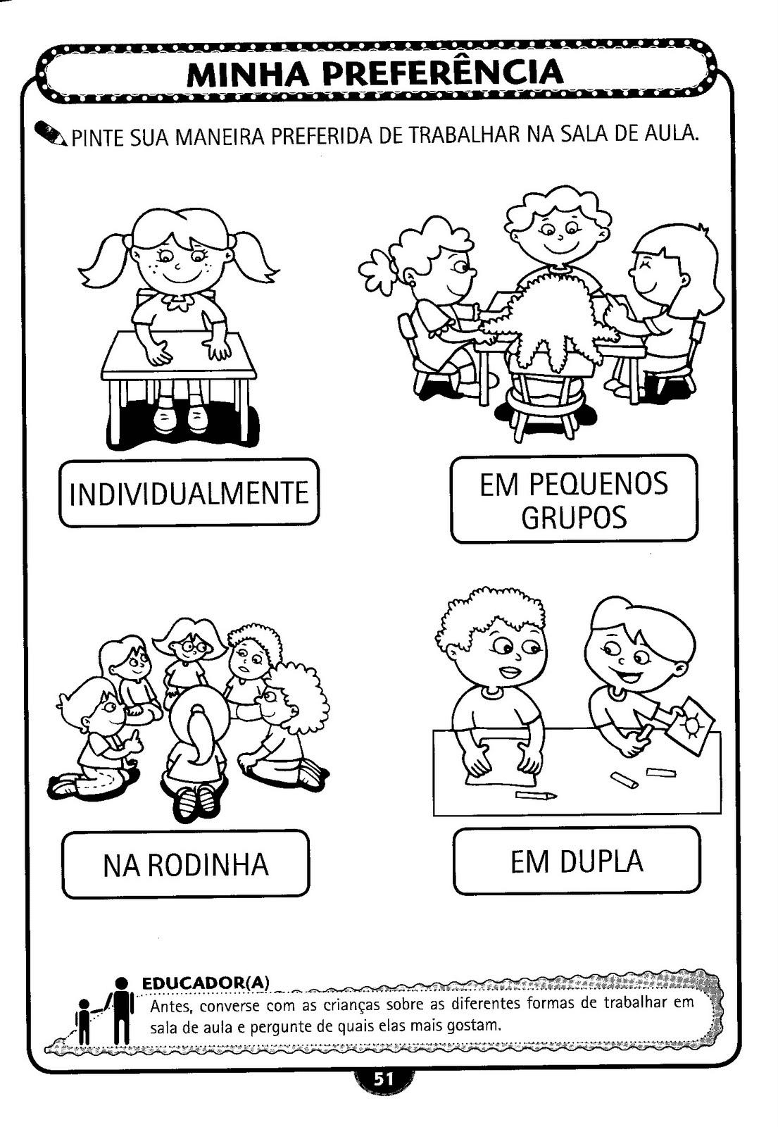 Atividades para o primeiro dia de aula 5