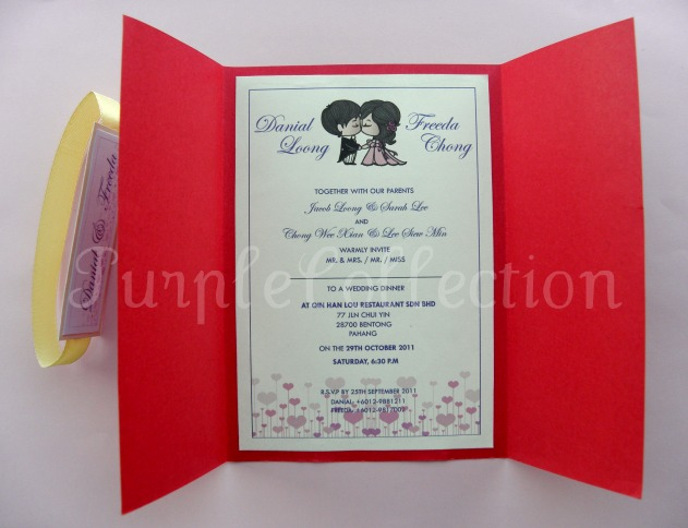 Handmade Chinese Wedding Invitation Card – Chinese Wedding Invitation Cards