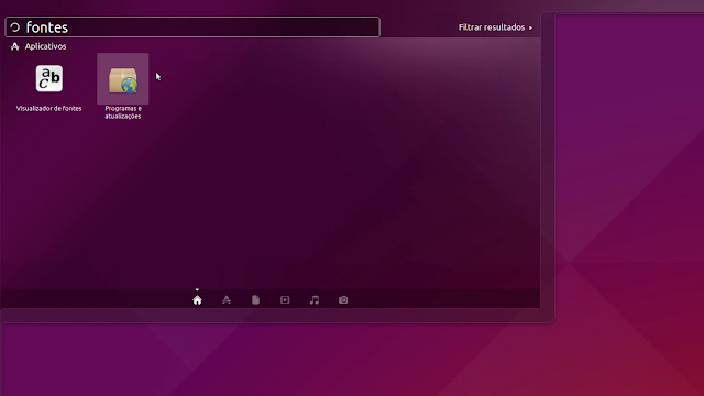 Programas e atualizações - Ubuntu