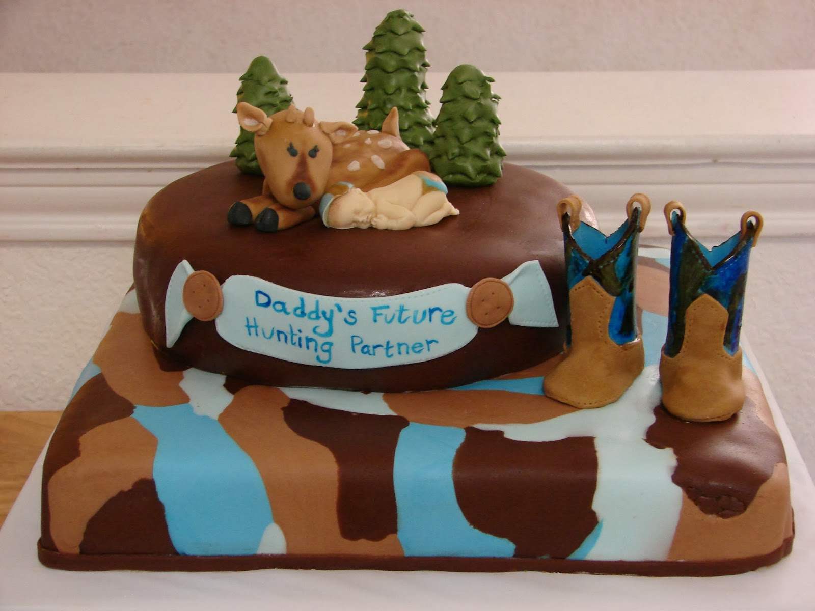 My Cake Hobby Hunting Camo Baby Shower Cake