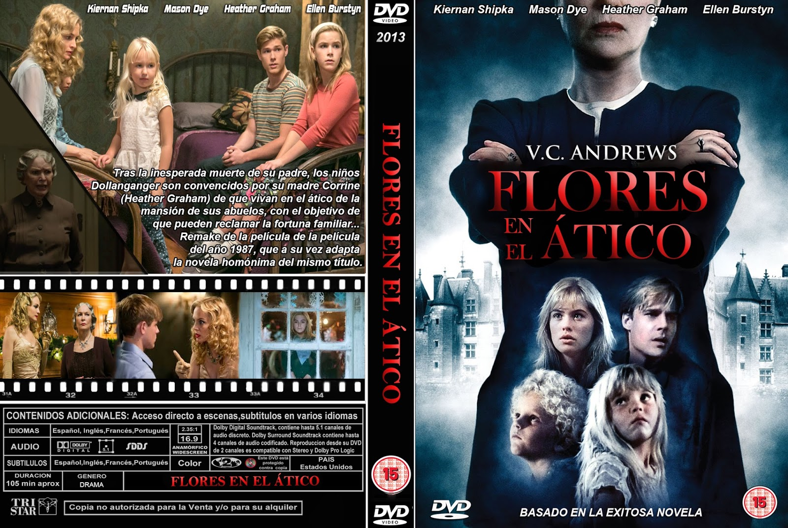 PB | DVD Cover / Caratula FREE: FLOWERS IN THE ATTIC - DVD ...