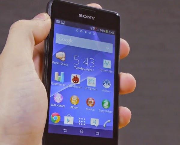 Sony Xperi E1 Dalam Genggaman Tangan