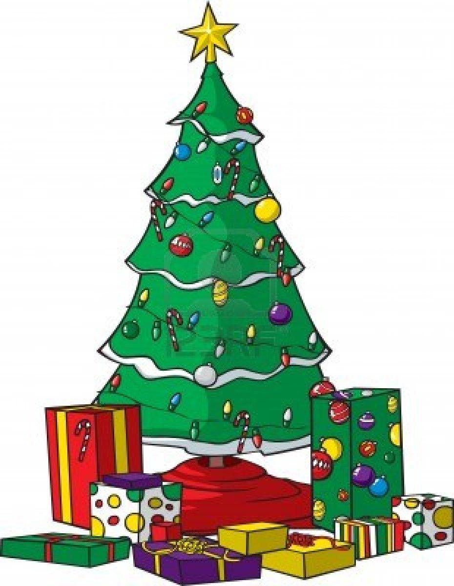 christmas tree decoration cartoon - photo #32