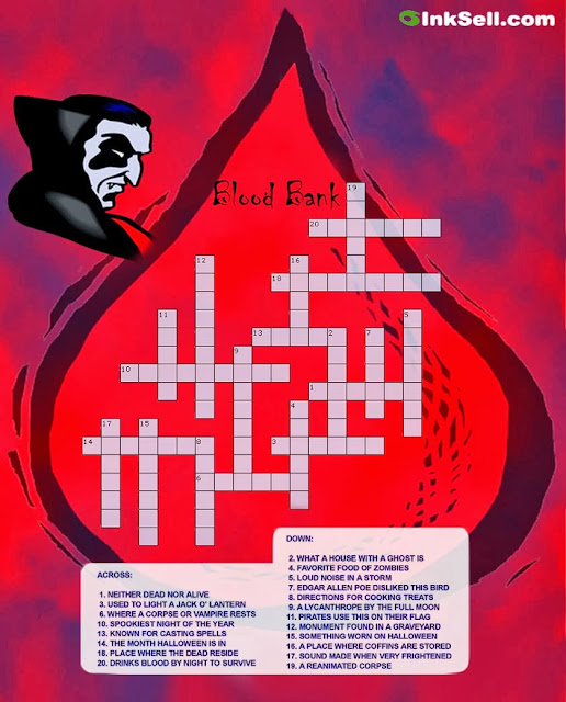 interesting halloween crossword puzzle to play best