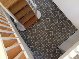 Beautiful Junk Concrete Stencil Floor
