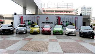 warna warni mitsubishi mirage 2012