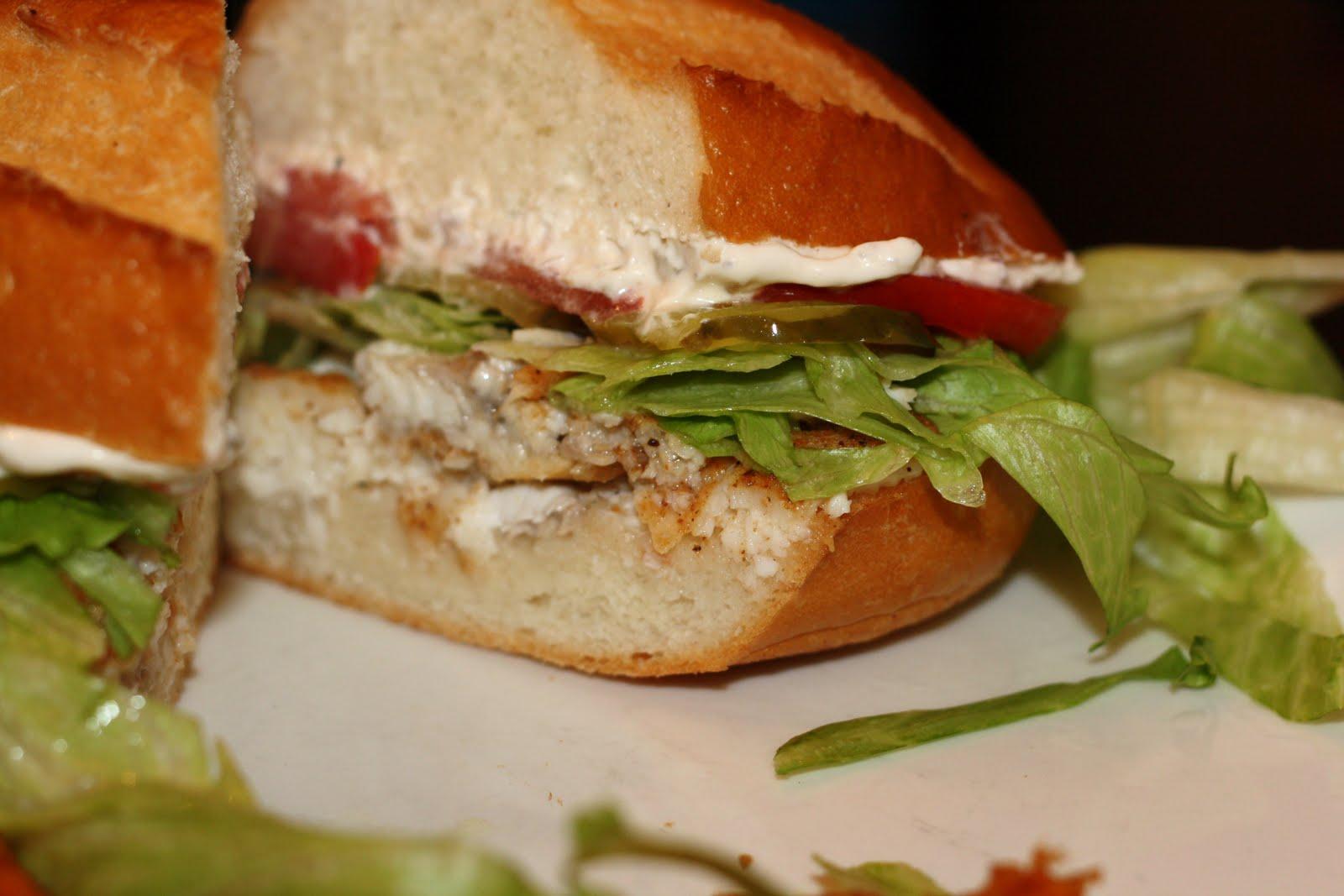 ... for dinner?: catfish po'boy with light tartar sauce... 20 minutes