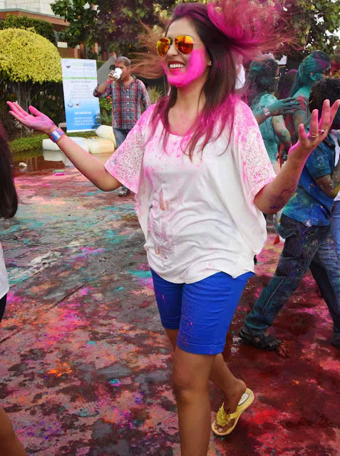 Madhu Shalini  Holi Celebrations Pictures 9.jpg