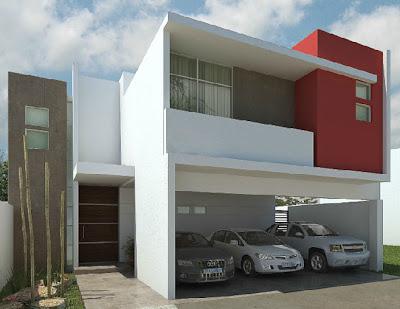 Fachadas minimalistas fachada de casa minimalista modelo for Casa modelo minimalista