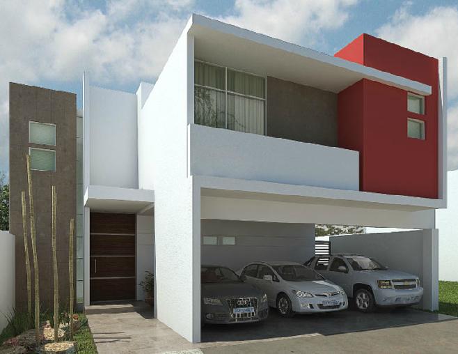 Fachadas minimalistas fachada de casa minimalista modelo for Casas tipo minimalista