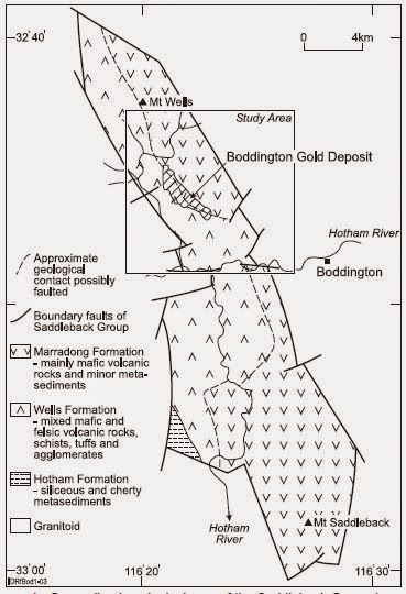 General Geological Map of Boddington Gold Mine