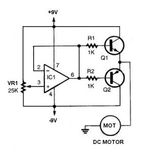 Simple bidirectional dc motor driver schematic using ic for Dc motor driver ic