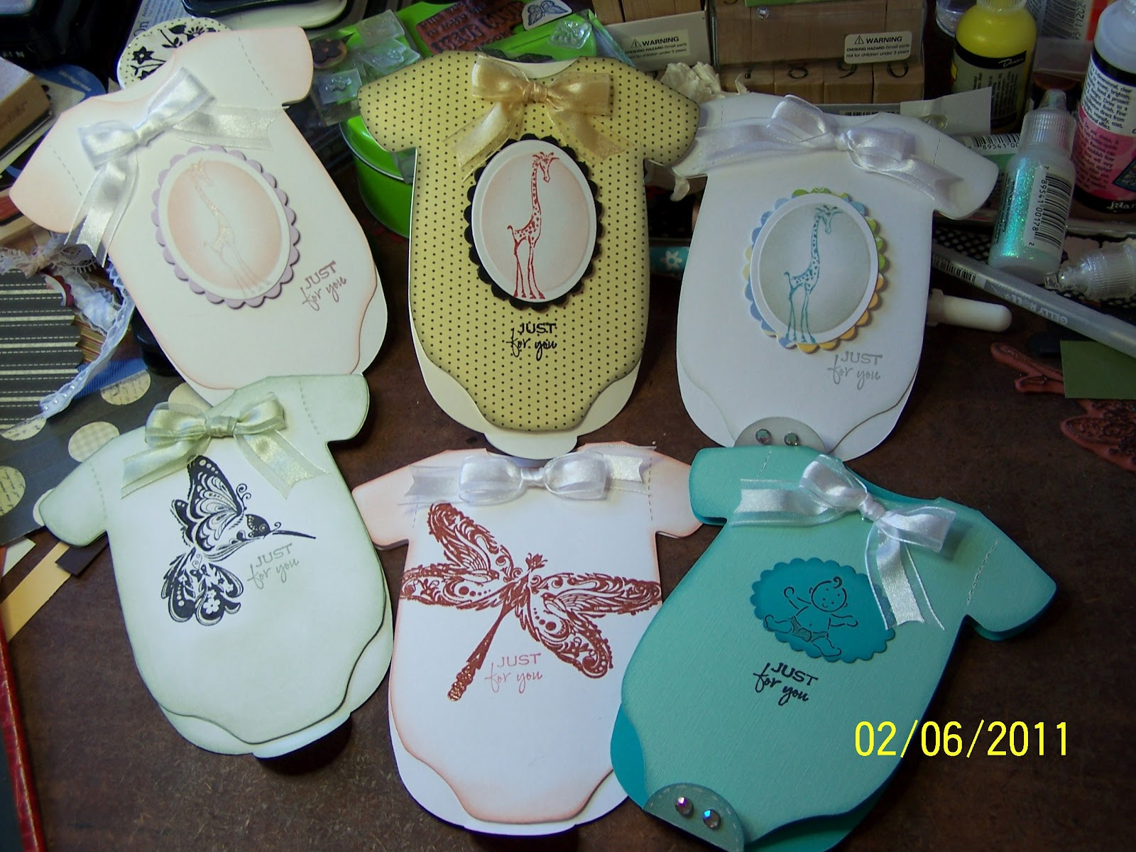 gettin' my craft on  gift card holders i have been working on, Baby shower invitation