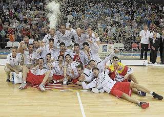 BALONCESTO-España campeona Sub-20 de Europa: 82-70 a Italia