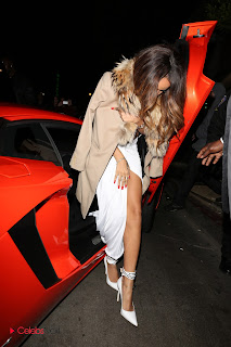 Rihanna Pictures in White Dress Arriving to and leaving Grammy After Parties in LA ~ Celebs Next