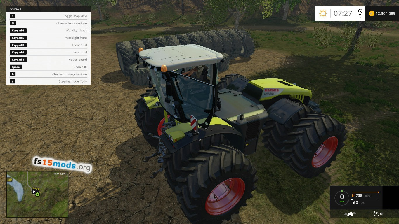 Fastest Tractor Farming : Claas xerion tractor version fs mods