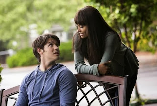 Kat Graham and Steven R McQueen in The Vampire Diaries