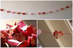 Origami Valentine Garland